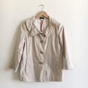 J. Crew Italian Paper Poplin Raincoat